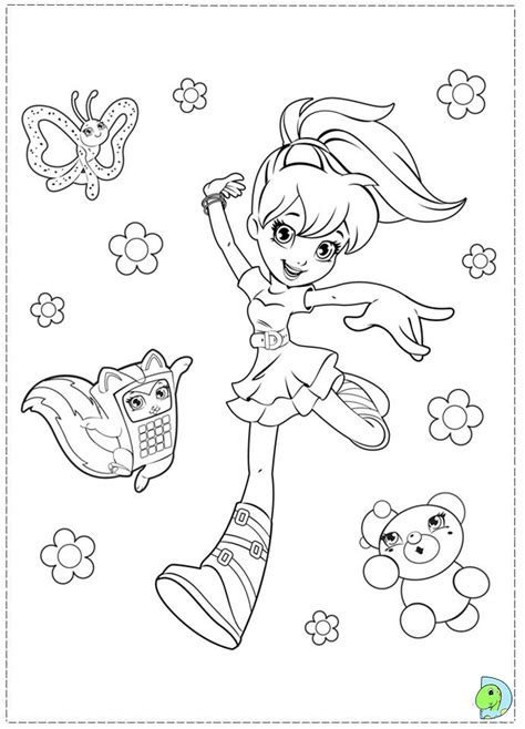 polly pocket coloring page dinokids org