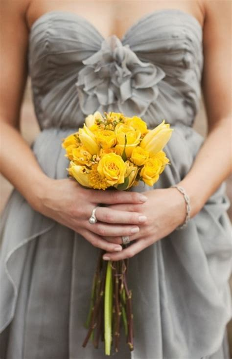grey yellow 36 cheerful grey and yellow wedding ideas weddingomania