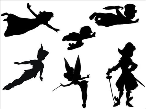 Peter Pan   Black Silhouette A4 Edible Fondant Icing Sheets (not pre c   Incredible Cake Toppers