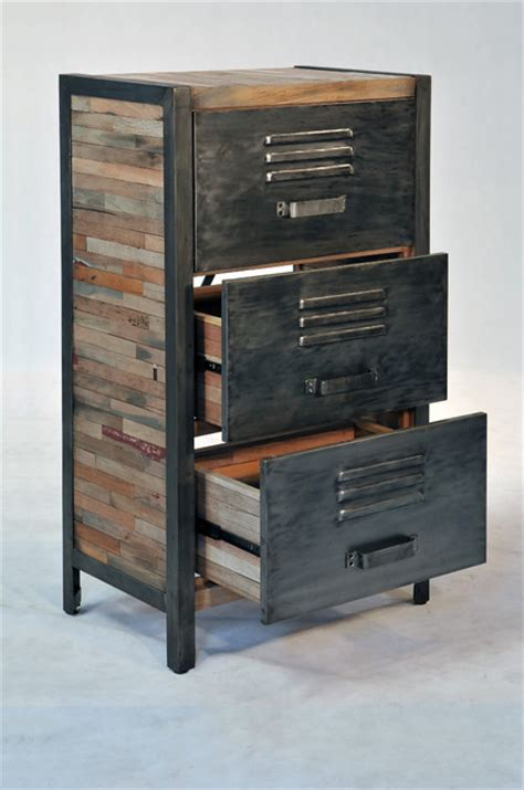 Industrial Dresser Furniture by Industrial Locker Room Style 3 Drawer 2 Cabinet