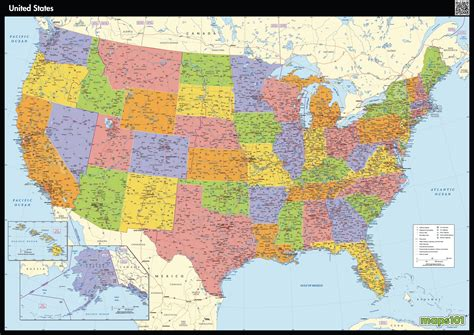 map of united stated united states map maps