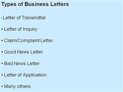 business letters different styles types of business letter and sles letters font