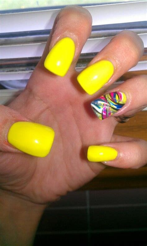 yellow nail beds yellow nails nails i ve done pinterest yellow