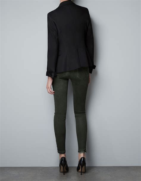 Blazer Zara Basic Zara Basic Blazer In Black Lyst