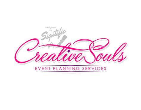 Wedding Organizer Tagline by Small Business Logo Custom Events Planning Logo Design Pink