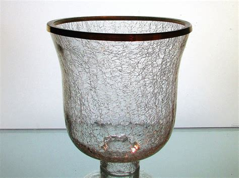 Candle Sconce Glass Replacement crackle glass hurricane shade xl 2 25 inch fitter x 7 25 w