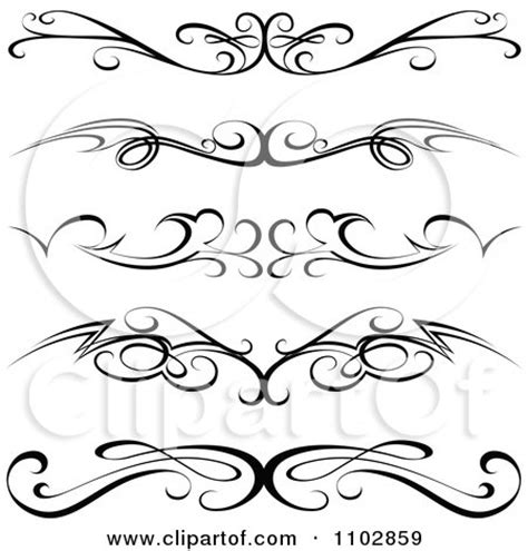 black tribal tramp stamp tattoos or rule border design