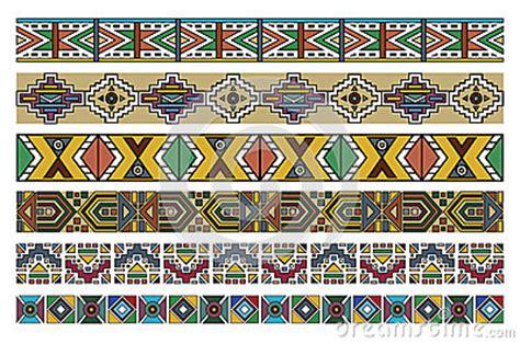 zulu pattern vector ndebele african border pattern art 2 stock photo image