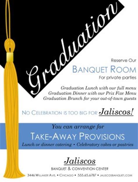 High School Graduation Flyer Party Menu Graduation Dinner Menu Templates