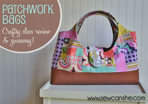 Three More Inspiring Patchwork Projects Sewcanshe Free - craftsy class review and giveaway patchwork bags