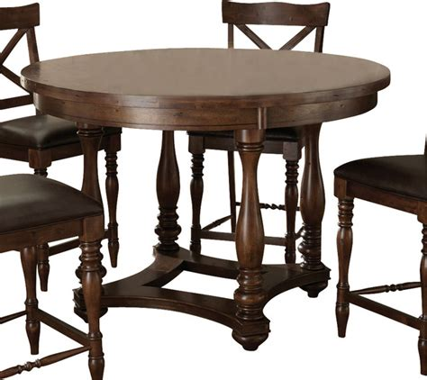 Dining Table Height Inches Steve Silver Wyndham 54 Inch Counter Height Table Traditional Dining Tables By