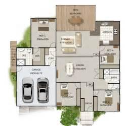 4 Level Split House split level house plan 4 bedroom sloping land house plan