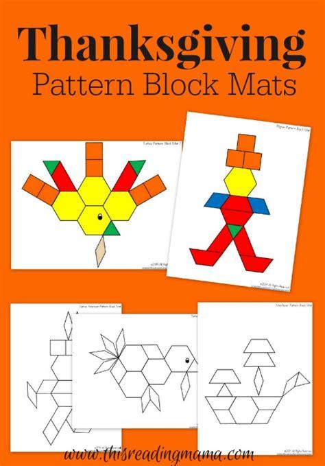 pinterest pattern block turkey thanksgiving mats for pattern blocks