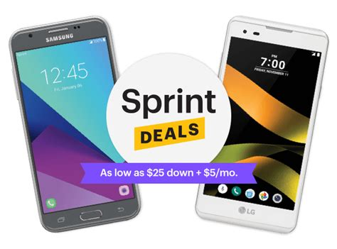 cell phone deals sprint deals big savings on low priced cell phones