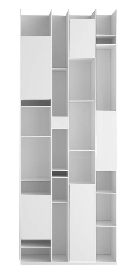 mdf bookshelves random box bookcase bookcase white lacquered by mdf italia