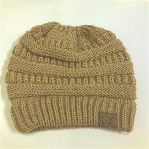 knitting letters into a hat cc letter ponytail cap knitting hat for brown