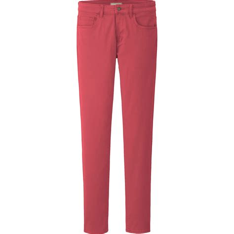 Uniqlo Stretch Fit Black Colour uniqlo stretch slim fit tapered color in pink for lyst