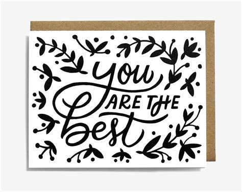 the best you are the best card worthwhile paper