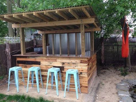 creative  pallets outdoor bar ideas pallets designs