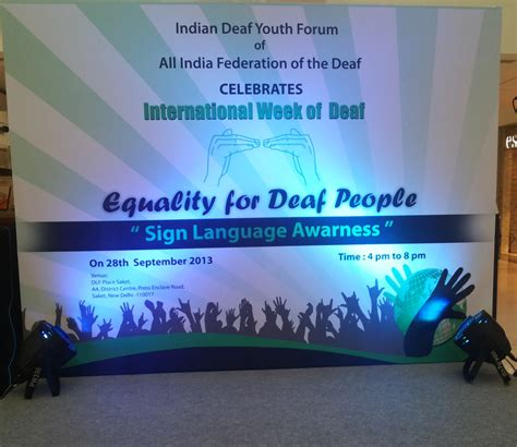 A Place Are They Deaf Celebrating International Week Of Deaf At Dlf Place Saket Sector Communique