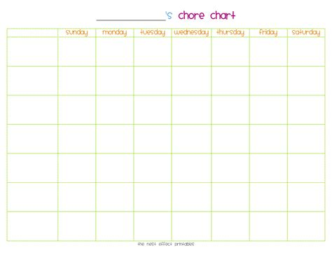 Chore Sheet Template by Blank Monthly Event Schedule Template Calendar Template 2016