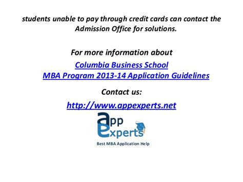 Columbia Mba Admissions Statistics by Columbia Business School Mba Guidelines