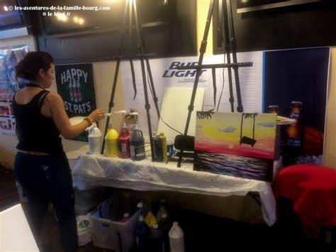 paint nite ques bar paint nite une soir 233 e peinture dans un bar