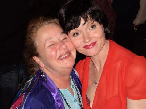 miss fishers murder mysteries cast and crew author kerry greenwood and actress essie davis at the miss