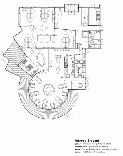 floor plan of cafeteria aeccafe archshowcase interior broadcast company omroep