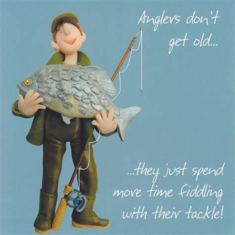 fishing cards humorous fishing birthday card one lump or two cardspark