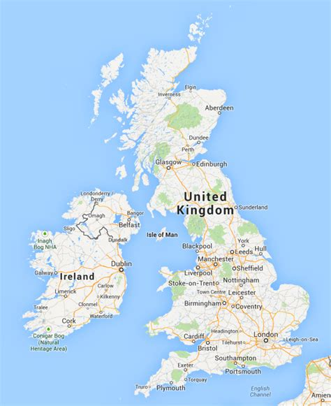 google maps lose england scotland wales northern
