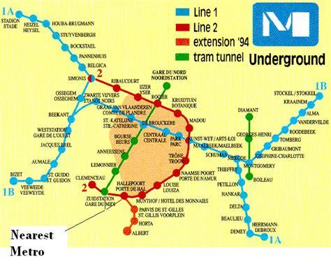 transport map brussels transport in brussels
