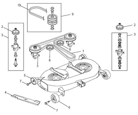 46 inch craftsman mower belt diagram 46 free
