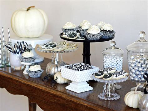 black and white table black and white treats table hgtv
