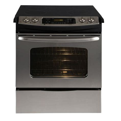 4 4 cu ft slide in electric range with self cleaning
