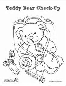 medical coloring books teddy bear check up coloring page prescription for play