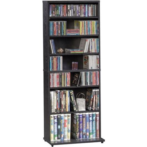 Dvd Cd Shelf by Multimedia Storage Tower W 7 Shelves 5 Adjustable Shelf Bookcases Cd Dvd Choice Ebay