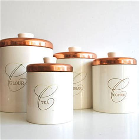 set of copper nesting kitchen canisters nesting kitchen canisters white and from charliesnest on