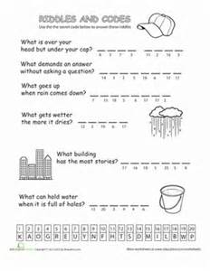 riddles and codes 1 worksheet education com