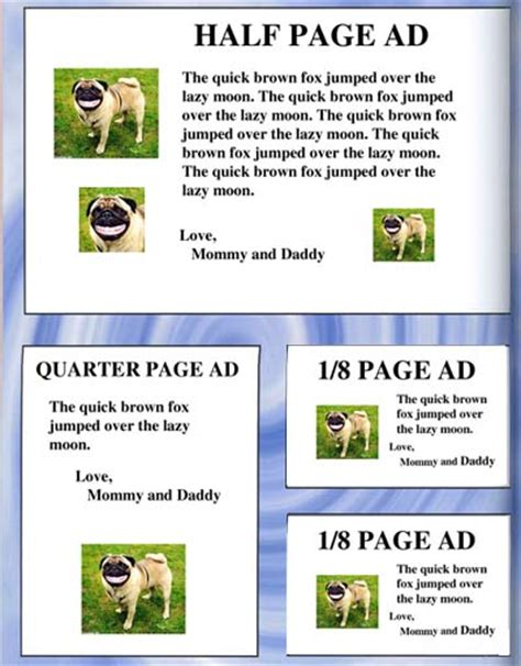 quarter page flyer template jhs 2005 06 yearbook
