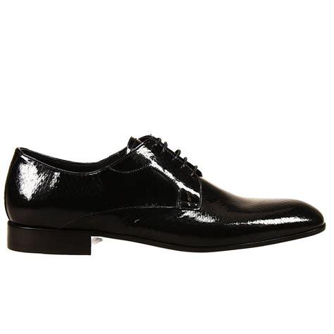 armani shoes lyst emporio armani lace up shoes leather sole derby in
