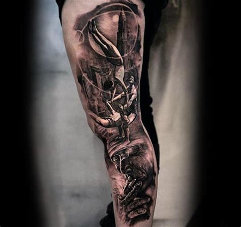 mens tattoo leg designs 50 3d leg designs for manly ink ideas