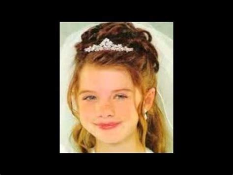 communion hairstyles for girls youtube