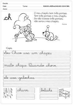 Exercices à imprimer pour les enfants. Calligraphie dans