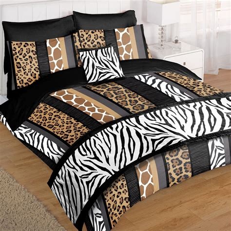 giraffe bed set safari animal 5pc bed in bag duvet set with leopard zebra