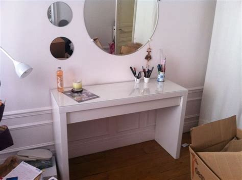 Impressionnant Meuble Coiffeuse Avec Miroir Ikea #6: Coiffeuseconsole-ikea-blanche-malm-neuf-20150926110024.jpg