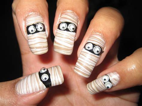 halloween nail art tutorial youtube halloween mummy water marble diy nail art tutorial youtube