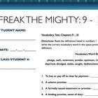 Freak The Mighty Vocabulary Worksheets by Freak The Mighty Sketch Notes Packet Sketch Notes