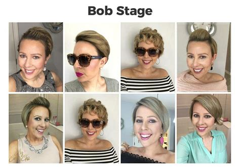 various stages of growing hair from short into a bob style a young adult survivor s guide to growing styling
