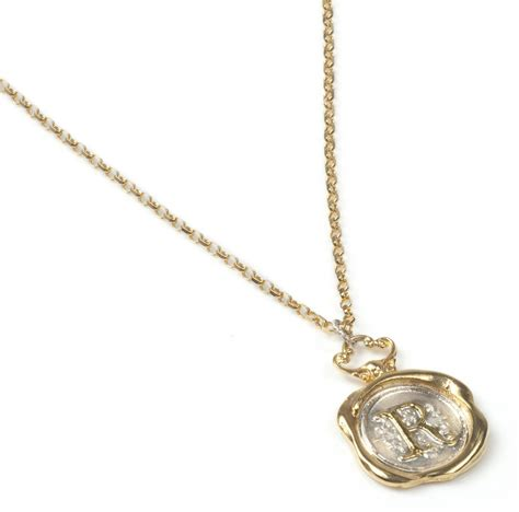 how to make wax seal jewelry personalised gold wax seal necklace de lotz